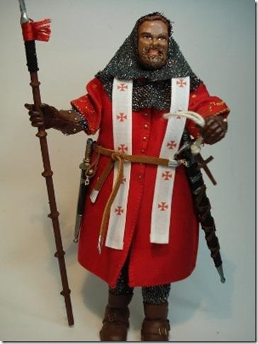 Obispo Guerrero En Tierra Santa ( S. XIII ) Escala 1/10 madelman custom