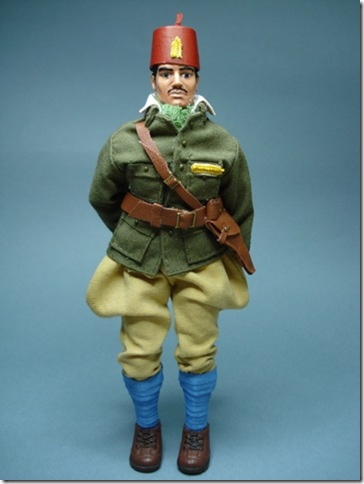 Sargento de la división 105 en uniforme de campaña – Tropas regulares de Marruecos. Escala 1/10 madelman custom