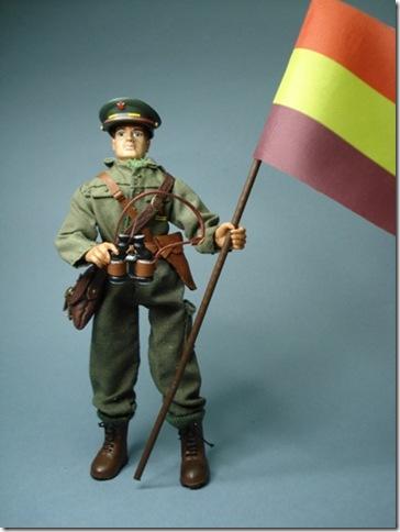 Teniente del Ejercito Popular Batalla del Ebro 1938. Escala 1/10 madelman custom