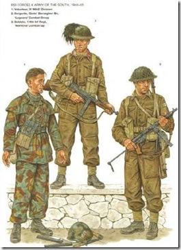 EJERCITO ITALIANO Fuerzas del sur, 1944-45 Sargento del batallon Bersaglieri «Gisto´´ Escala 1/10 madelman custom