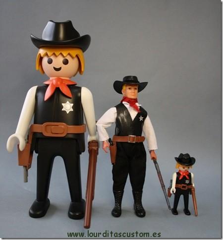 SHERIFF MADELMAN–PLAYMOBIL Escala 1/10 madelman custom