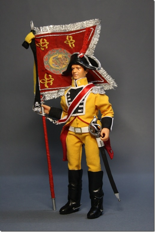 PORTAESTANDARTE DRAGON DE LUSITANIA 1807 – Figura articulada Escala 1/10 madelman custom