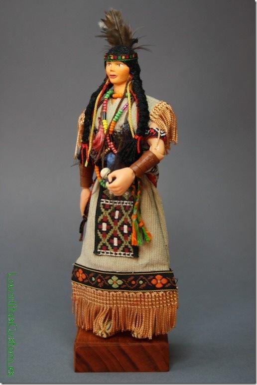"INDIA CHIPPEWA ""Abedabun"" Figura Articulada Escala 1/10 madelman custom"