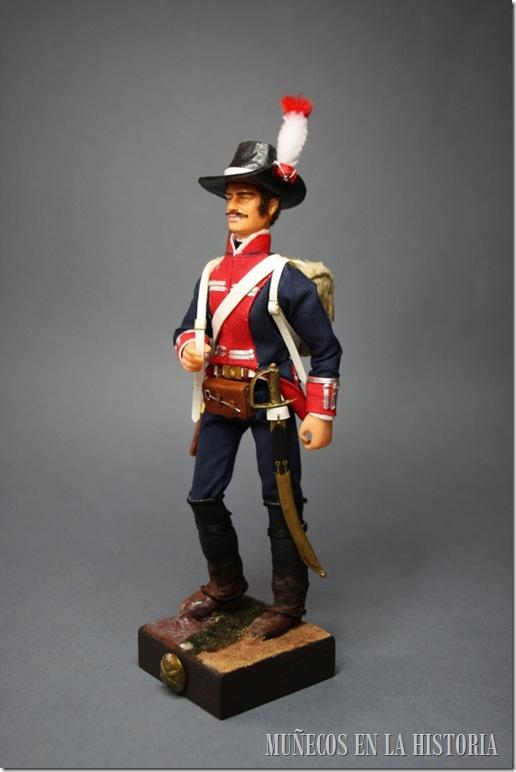 CAZADOR ARTILLERO 1ª COMPAÑIA – 1800 Figura articulada Escala 1/10 madelman custom