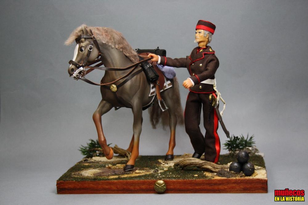 SOLDADO DE ARTILLERÍA. ESCUADRÓN DE REMONTA EN TRAJE DE DIARIO 1862 – Figura articulada Escala 1/10 madelman custom