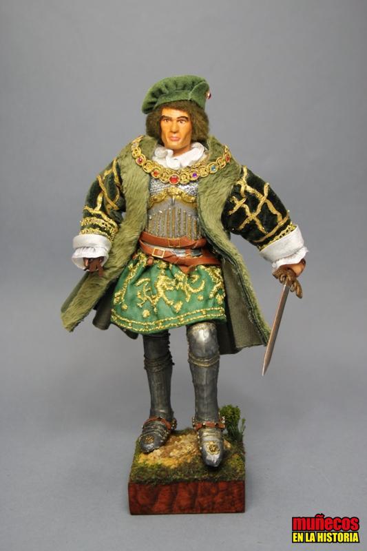 EL GRAN CAPITAN, GONZALO FERNÁNDEZ DE CÓRDOBA  s. XV – XVI  Figura articulada Escala 1/10 madelman custom