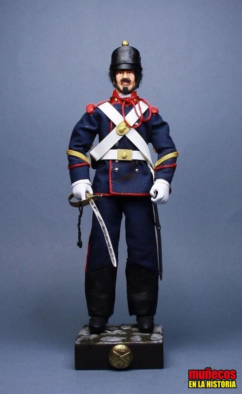 SARGENTO. SECCIONES MONTADAS. DIARIO – 1885 – – Figura articulada Escala 1/10 madelman custom